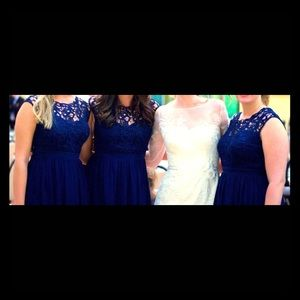 Only wore once, navy lace bridesmaid/formal dress